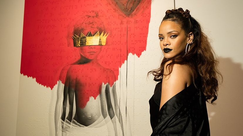 Pop artist Rihanna ranks high among a recent analysis of lyrical repetition in popular music. Christopher Polk/Getty Images