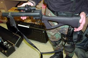 40-mm single-launcher, used instead of the multi-launcher when greater precision is needed