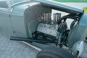 The Ritzow Deuce is equipped with a 1949 Mercury 260-cid flathead V-8 engine.