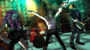 Lone rockers no more. The Rock Band videogame integrates guitar, bass, drums and vocals. Learn more about the game systems that feature Rock Band with video game system pictures.
