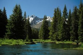 Snow-capped mountains, pine trees and pristine lakes define the Rocky Mountains. See more national park pictures.