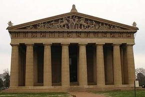 The Parthenon in Nashville was originally built for the Tennessee Centennial Exposition in 1897 and has been restored twice since then.