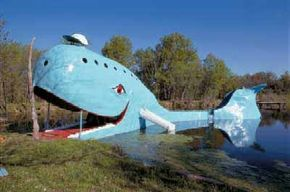 The Blue Whale in Catoosa, Oklahoma, has been lovingly cared for by its community since the builder's death.