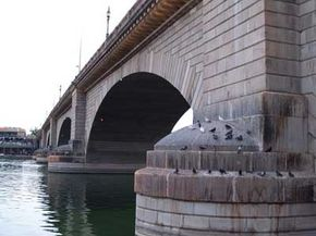 London Bridge in Lake Havasu City, Arizona, was moved from England, where the bridge was sinking into the Thames. Learn about this attraction.