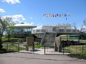 The UFO Landing Pad in St. Paul, Alberta, has yet to see any weary space travelers, but the site did host a UFO conference.