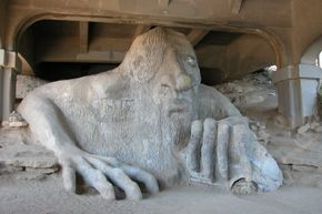The Fremont Troll Statue lurking under a bridge in Seattle, Washington, brings to mind many a fairy tale.
