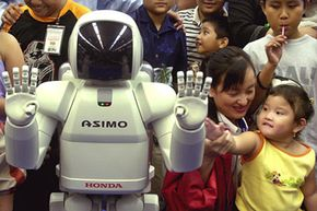 It's not hard to feel empathy for ASIMO even though ASIMO can't feel anything.