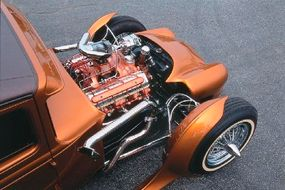 The engine is a 303-cid Rocket V-8 and Hydra-Matic transmission from a 1949 Oldsmobile.