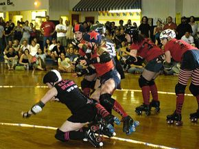 Players must frequently dodge fallen skaters during competitions.