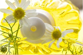Roman chamomile oil may help relieve the dryness and itching caused by skin conditions like eczema. See more pictures of unusual skin care ingredients.