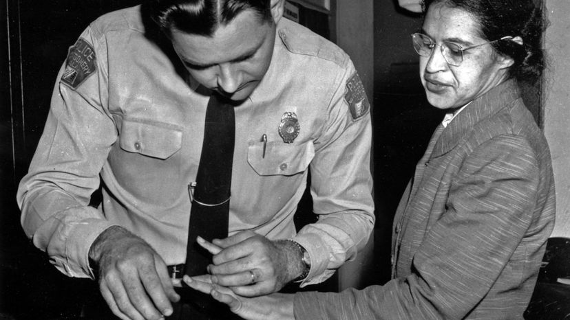 Rosa Parks, fingerprinted