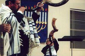The shofar is blown