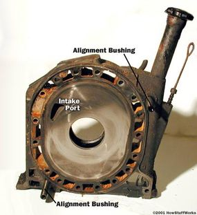 The center piece contains another intake port for each rotor.