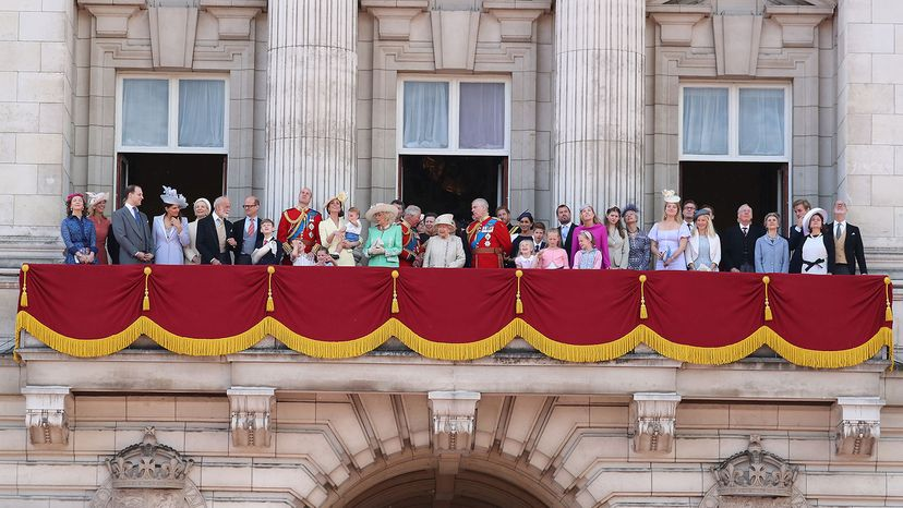 trooping the color, royal family