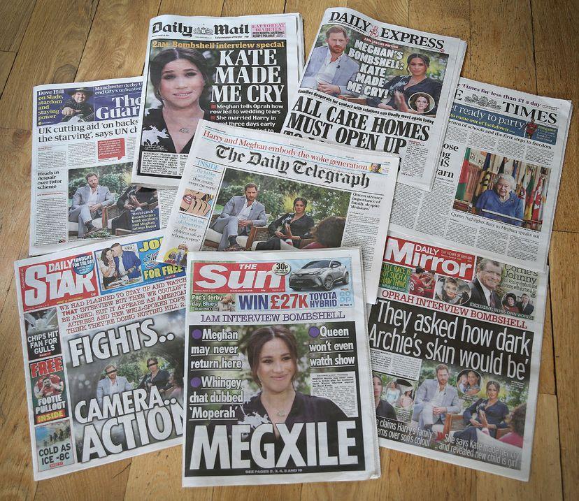 harry, meghan, interview headlines