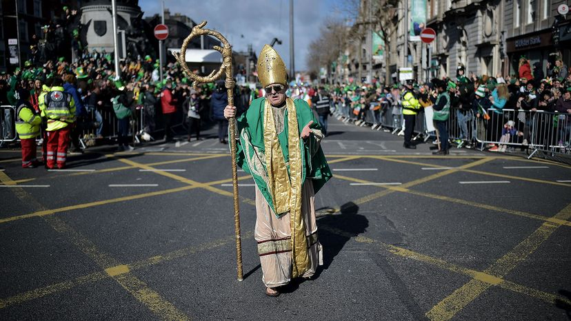actor playing the part of St. Patrick