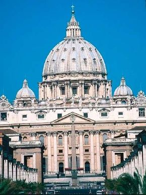 St. Peter's Basilica is characterized by its to tower above the building Michelangelo was the chief from 1546 to 1564, but the artist never saw it. See more pictures of works by Michelangelo.