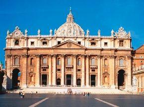 St. Peter's Basilica façade (1546-64) by Michelangelo.