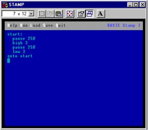 A screenshot of a typical BASIC program editor