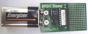 A BASIC Stamp is a PIC microcontroller that has been customized to understand the BASIC programming language.