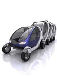 The MIT Smart Cities group designed its City Car to fold and stack against other City Cars when not in use, much like shopping carts. See more small car pictures.