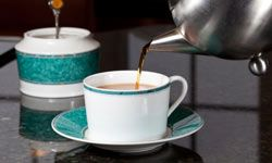 Wine, tea and coffee are dark-toned beverages that will leave a mark on marble surfaces.