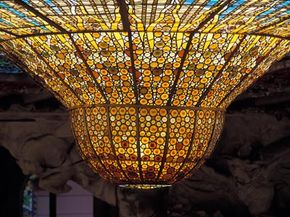 The huge upside down dome in the The Palace of Catalan Music is an incredible work of stained glass.