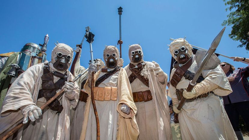 Fans dressed in 'Star Wars' costumes attend the dedication of Mark Hamill Drive on July 30, 2017 in San Diego, California. Daniel Knighton/Getty Images
