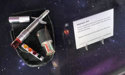 """No Star Trek medical kit, like this one on display at """"Star Trek -- The Exhibition"""" in Los Angeles on Oct. 10, 2009, should be without a hypospray."""