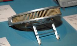 """A replica of Geordi LaForge's VISOR sits on display at """"Star Trek -- The Exhibition"""" on Oct. 10, 2009, in Los Angeles."""