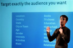 Mark Zuckerberg, founder of Facebook, speaks to advertising partners about targeted advertising.