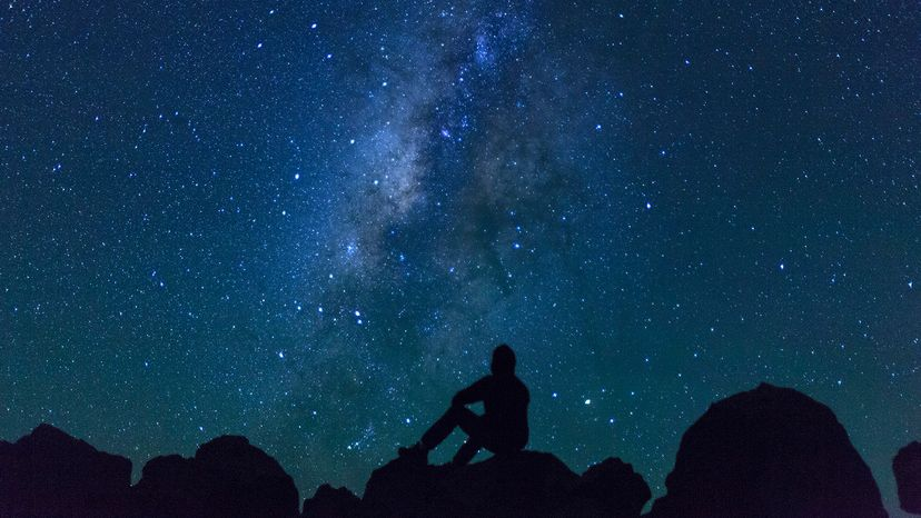 Starry sky from Mauna Kea Observatories