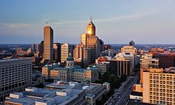 The skyline of Indianapolis, Ind.
