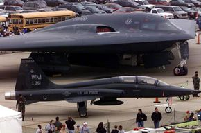 The B-2 is a huge plane, but its advanced stealth capabilities make it seem smaller than a sparrow on radar.