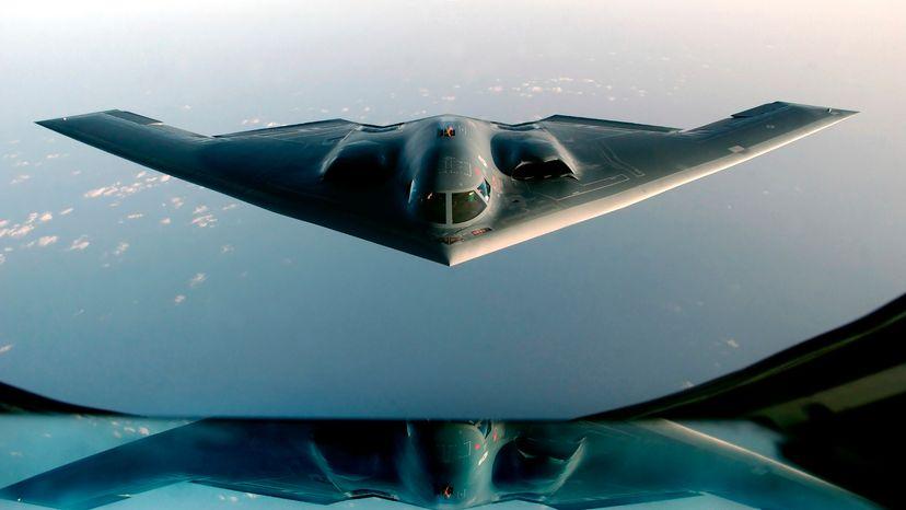 Stealth Bomber Plane in Flight