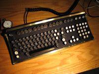The finished product: Jake von Slatt's fully steampunked computer keyboard.