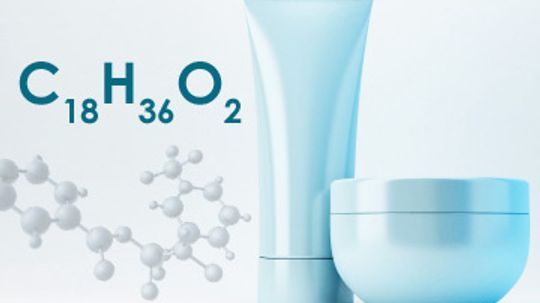 How does stearic acid work in skin cleansers?