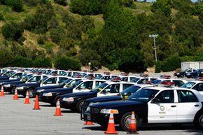 Los Angeles Police Department patrol cars