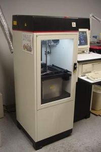 Stereolithography machines use liquid plastic.