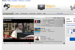 Popular Web Sites Image Gallery Stickam's homepage includes video from one of its featured members. See more pictures of popular web sites.