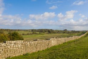 Testament to longevity: Hadrian's Wall in the U.K. was built over the years of 112 to 130 A.D. Large stretches of the wall still stand [source: BBC].