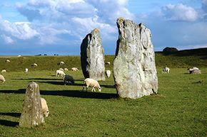 Fellow Neolithic henge Avebury sits about 19 miles north of Stonehenge.