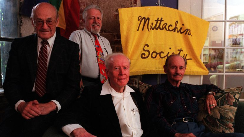 Members of the Mattachine Society, an early gay rights organization, pose for a picture. Brian Brainerd/The Denver Post via Getty Images