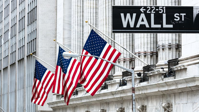 New York Stock Exchange Building on Wall Street New York