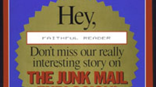 Can I stop getting junk mail?