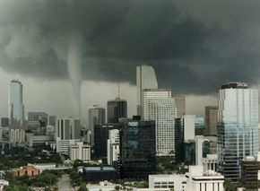 A tornado strikes down in Miami, May 12, 1997