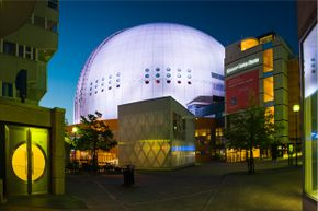 Globe Arena, also known as Ericsson Globe, is the biggest spherical building in the world.