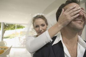 Will the happy couple really have bad luck if the groom sees the bride before the ceremony? Unlikely.