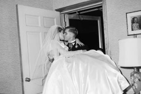 Now, carrying the bride across the threshold is a romantic gesture, rather than a way to ward off evil spirits.