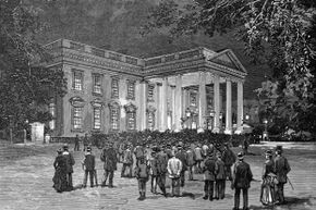 Even U.S. President Grover Cleveland had to deal with a crowd outside the White House on his wedding night in 1886.